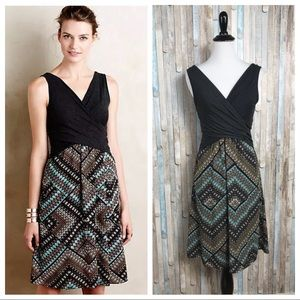 Anthropologie S Jersey Knit Lola Cross-Front Dress